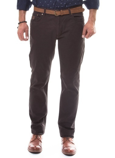 Wessi Slim Fit Chino Pantolon Kahve